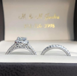 Diamond Bridal Set At M & M JewelersAvailable At M & M Jewelers